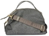 Borbonese Women's Grey Leather Handbag.