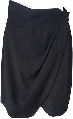 Genny Black Wool Skirts