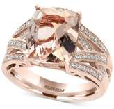 Effy Final Call Morganite (4-1/2 ct. t.w.) and Diamond (1/4 ct. t.w.) Ring in 14k Rose Gold