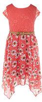 Bonnie Jean 7-16 Lace-Bodice Pattern-Skirted Dress