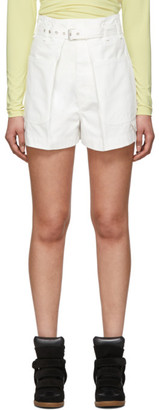 Isabel Marant White Ike Shorts