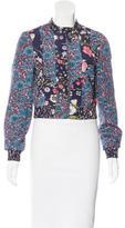 Rebecca Taylor Floral Print Silk Jacket w/ Tags