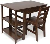 Lipper Kids Workstation Desk & Chair Set in Walnut