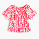 J.Crew Girls' two-way ruched top in neon floral