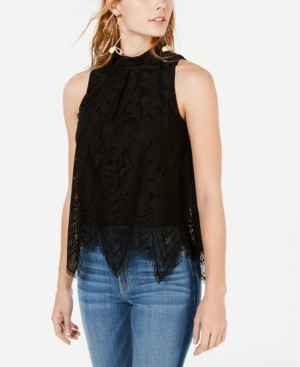 Love, Fire Juniors' Sleeveless Lace Top