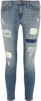 Thumbnail for your product : Current/Elliott The Stiletto Distressed Low-rise Skinny Jeans
