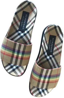 Burberry Multicolour Cloth Sandals