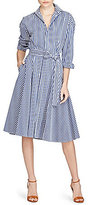 Polo Ralph Lauren Striped Cotton A-line Midi Shirtdress