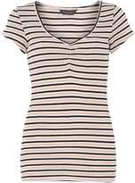 Dorothy Perkins **Tall navy stripe sweetheart Top