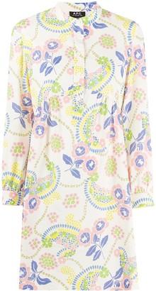 A.P.C. Floral-Print Shift Dress