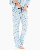 Soma Intimates Cotton Blend Pajama Pants Pretty Bows Blue Crystal
