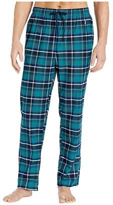 Nautica Plaid Cozy Fleece Pajama Pants (Spruce Green) Men's Pajama