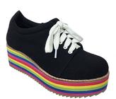 C Label Black Nata Platform Sneaker