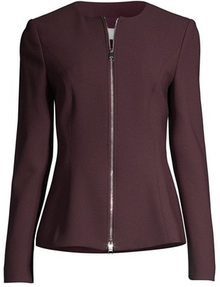 BOSS Structured Pique Jersey Peplum Jacket