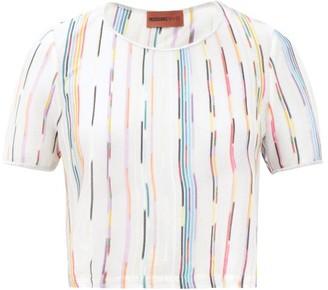 Missoni Mare Striped Cropped-hem T-shirt - White Multi
