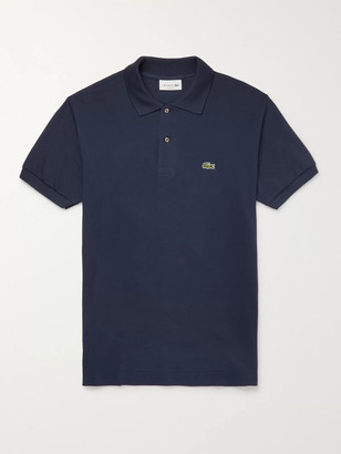 Lacoste Logo-Appliqued Cotton-Pique Polo Shirt - Men - Blue