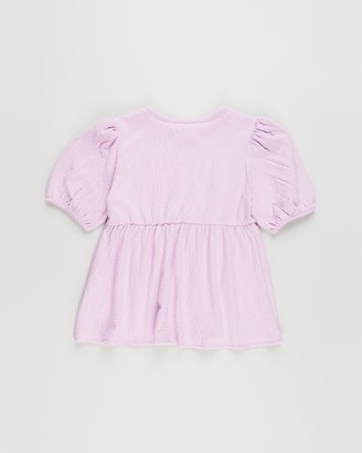 Cotton On Girl's Purple Basic T-Shirts - Carla Puff Sleeve Top - Kids-Teens - Size 3 YRS at The Iconic
