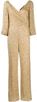 Jenny Packham Teodora sequin-embellished jumpsuit