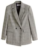 Mango MANGO Check Structured blazer