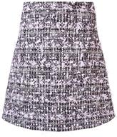 Giamba tweed A-line skirt