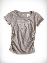 GUESS Little Girl Triangle Stud Tee (2-6x)