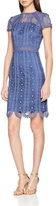 Chi Chi London Women's Rima Party Dress, (Blue Bl), (Size:)