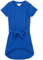 Pink Angel Blue Tie-Waist Hi-Low Dress - Girls