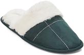 Emerald Contrast-Stitch Faux Fur-Accent Slipper - Women