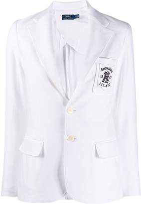 Polo Ralph Lauren logo embroidered fitted blazer