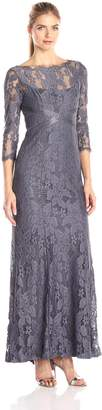 Adrianna Papell Women's Lace Gown with Beaded Banding