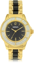 Versace Versus Tokyo Crystal 38 Gold and Black Women's Watch