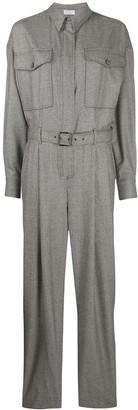 Brunello Cucinelli Houndstooth Boiler Suit