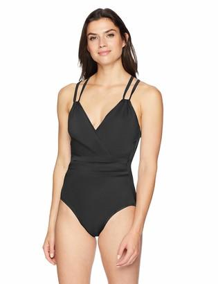 Coastal Blue Women's Control Swimwear Criss Cross Back One Piece Swimsuit
