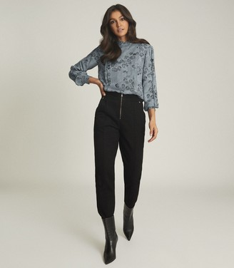 Reiss SARAH FLORAL PRINTED BLOUSE Blue