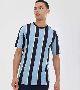 Nicce t-shirt stripe t-shirt in blue