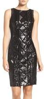 Adrianna Papell Women's Sequin Front Sheath Dress