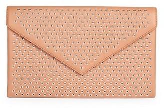 Alaia Oum Grommet Leather Clutch