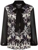 Roberto Cavalli Burnt Shells Print Long Sleeve Shirt