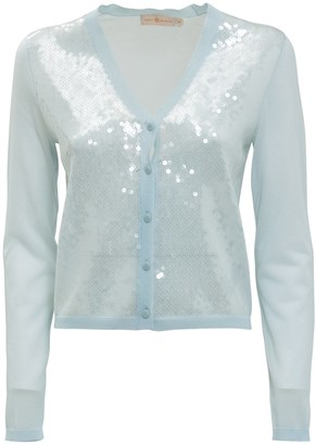 Tory Burch Sequin Front Simone Cardigan