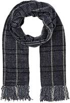 Barneys New York MEN'S WINDOWPANE-PLAID CHENILLE SCARF