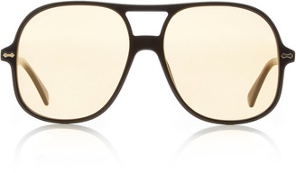 Gucci Oversized Acetate Aviator Sunglasses