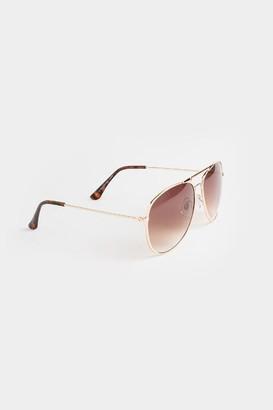 francesca's Joie Smokey Aviator Sunglasses - Gold