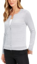 Charter Club Textured Lurex Cardigan Sweater, Created for Macy's