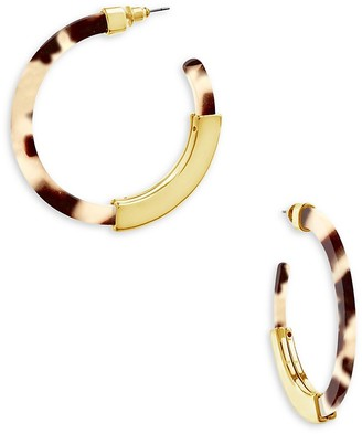 Sterling Forever 14K Goldplated Resin Hoop Earrings