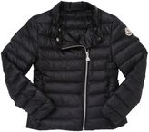 Moncler Amy Off-Center Zip Nylon Down Jacket