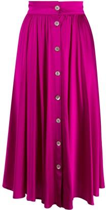 Andamane Buttoned High-Waisted Skirt