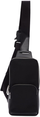 Alyx Black Satin Crossbody Bag
