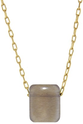 Ten Thousand Things Moonstone Chiclet Yellow Gold Necklace