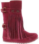 BearPaw Boots Womens Krystal Suede Fringe Sheepskin Bordeaux 1914W