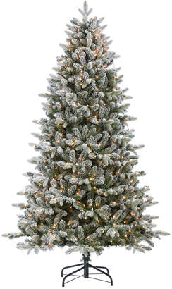 Sterling Tree Company 7.5Ft Flocked Natural Cut Swiss Mountain Fir